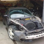 5. Porsche 996 Front wings/bumper Lights removed