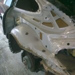 9. Rear view of removed N/S quarter panel
