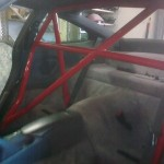 83. Roll cage being fitted, trim being refurbed