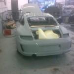 Porsche Classic rear bumper in paint