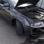 damaged Audi A4