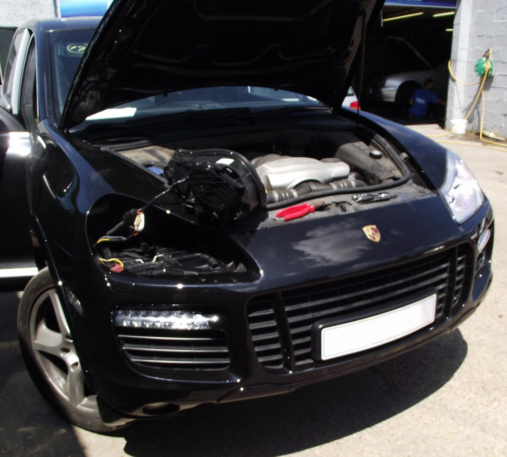 Porsche Cayenne Conversion in progress, new bumper fitted and ...