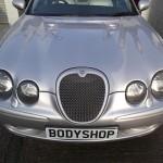 Jaguar R with fitted bonnet vents