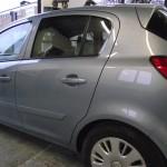 Vauxhall Corsa door repainted