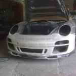 Porsche 996 to Porsche Classic bumper being dry fitted