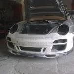 Porsche 996 to Porsche Classic bumper being dry fitted