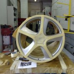 4. Wheel Refurbishment, maske and ready for two colour finish.