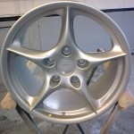 5. Wheel Refinished in silver.
