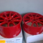 7. Resprayed wheels as to be fitted on our GT3RS conversion