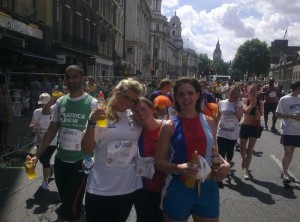 Girls from Help for Heroes after the 10k run 11/7/10