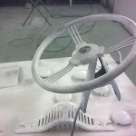 Pedal car steering wheel, grille and finishers