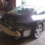 7. Rear Lamps and bumper removed