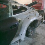8. N/S quarter panel removed, see inner arch extended by 5cm