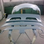 55. GT3 deck in primer (in the backtound id the GT3 Front Bumper)