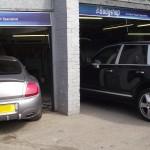 Bentley and Porsche Cayenne