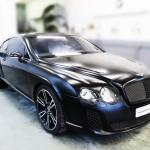 Bentley GT with satin black paintwork