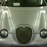 Jaguar R before fitted bonnet vents