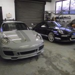 996 to 911 Sports Classic with a 997 to GT3RS conversion in backround