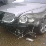 Bentley GTC with damaged n/s.