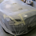 Audi Bonnet repaired and in primer